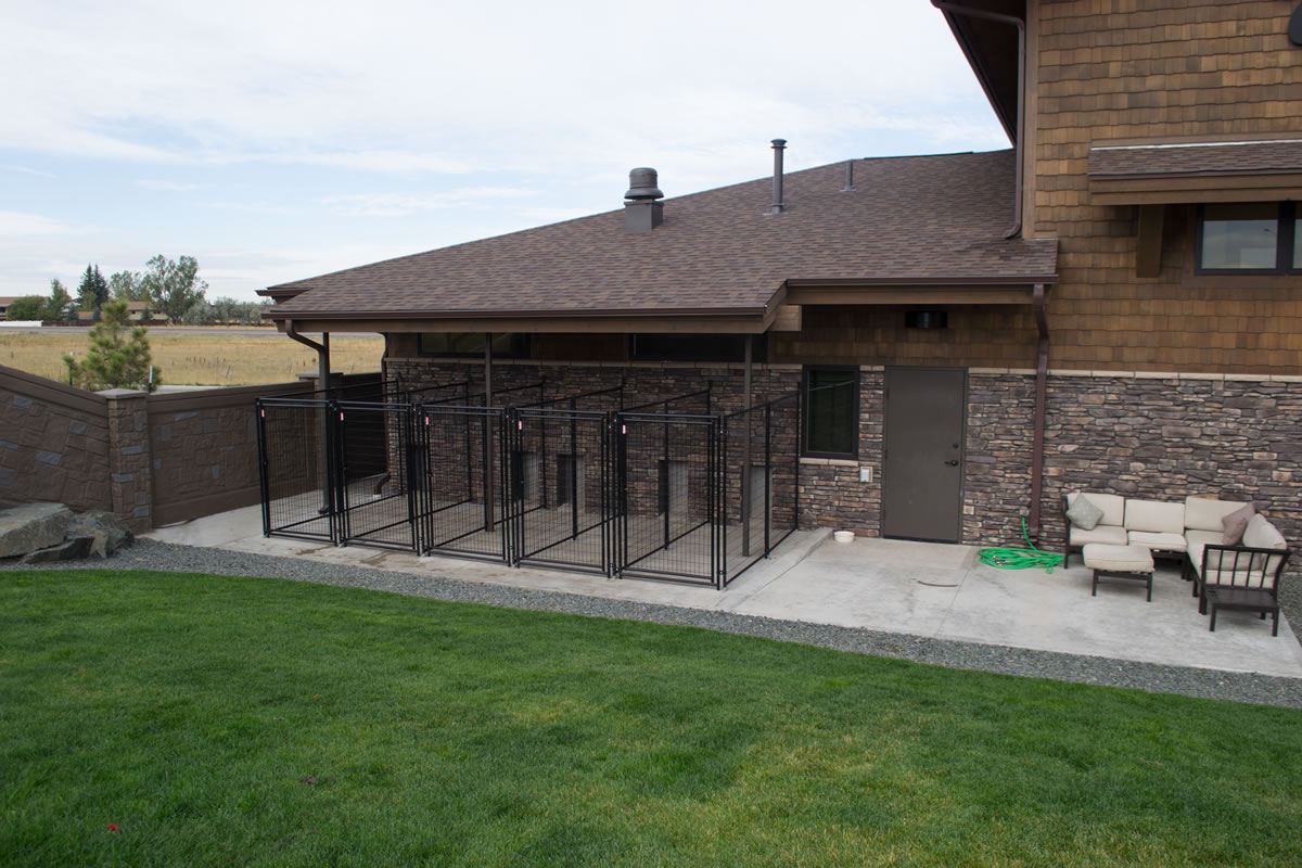 Outdoor Area Kennels Closeup